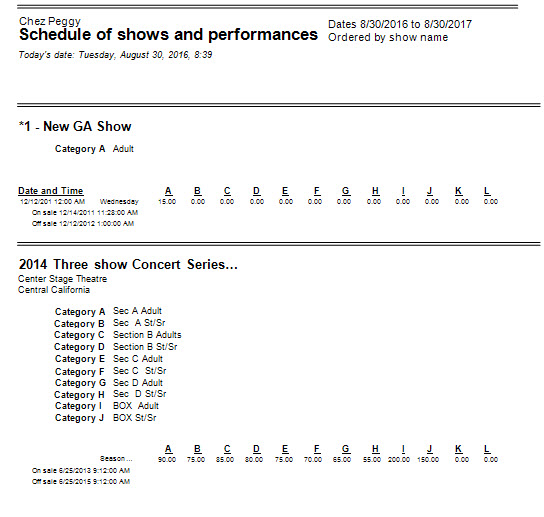show sked 2