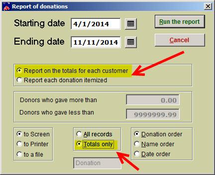 donation cumulative