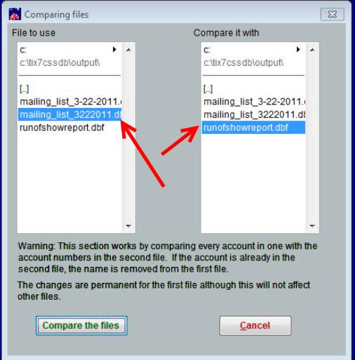 comparing files 3