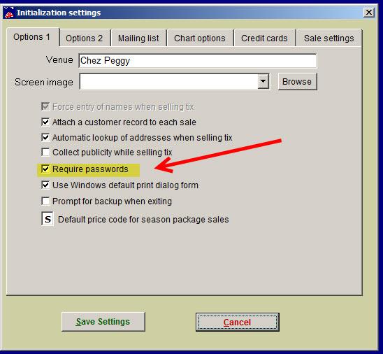 require passwords
