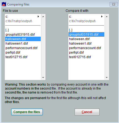comparing files 4