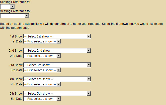 form choices