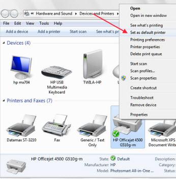 default printer 4