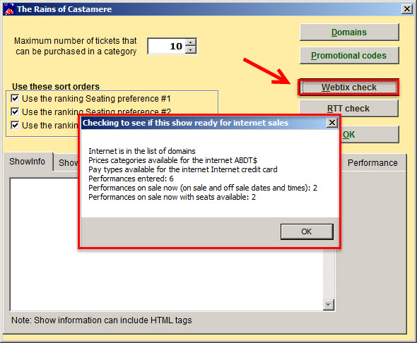 How to set up your show in Wintix to sell tickets in Webtix